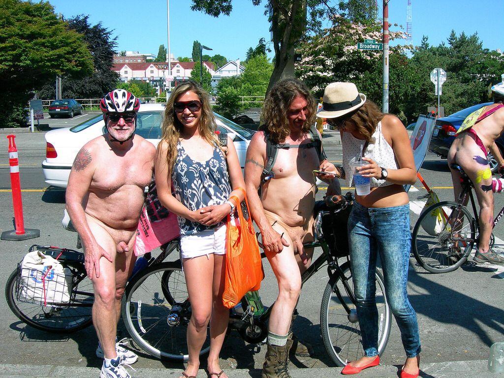 cfnm street bikers WNBR Seattle 2012