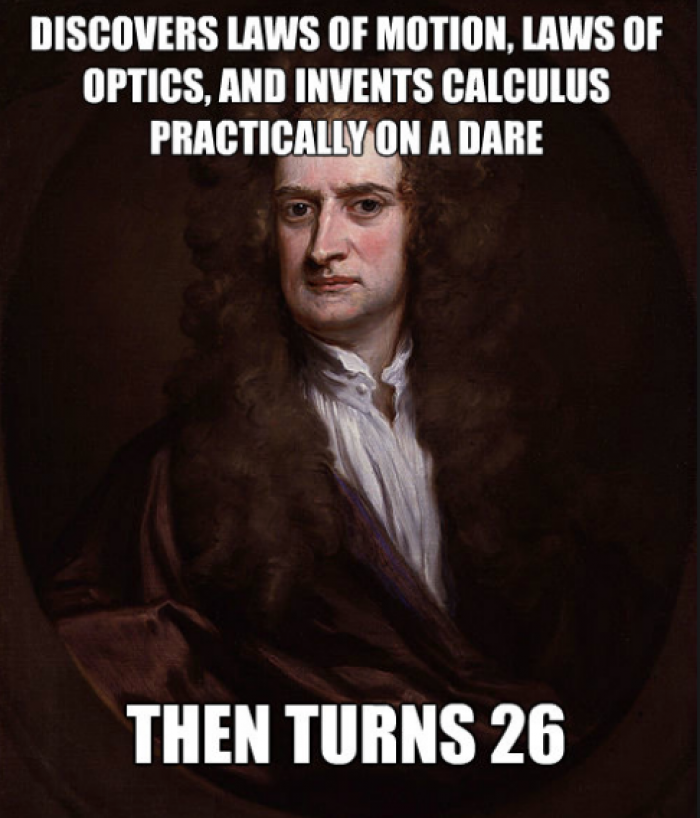 Isaac Newton invented calculus while Cambridge University was closed ...