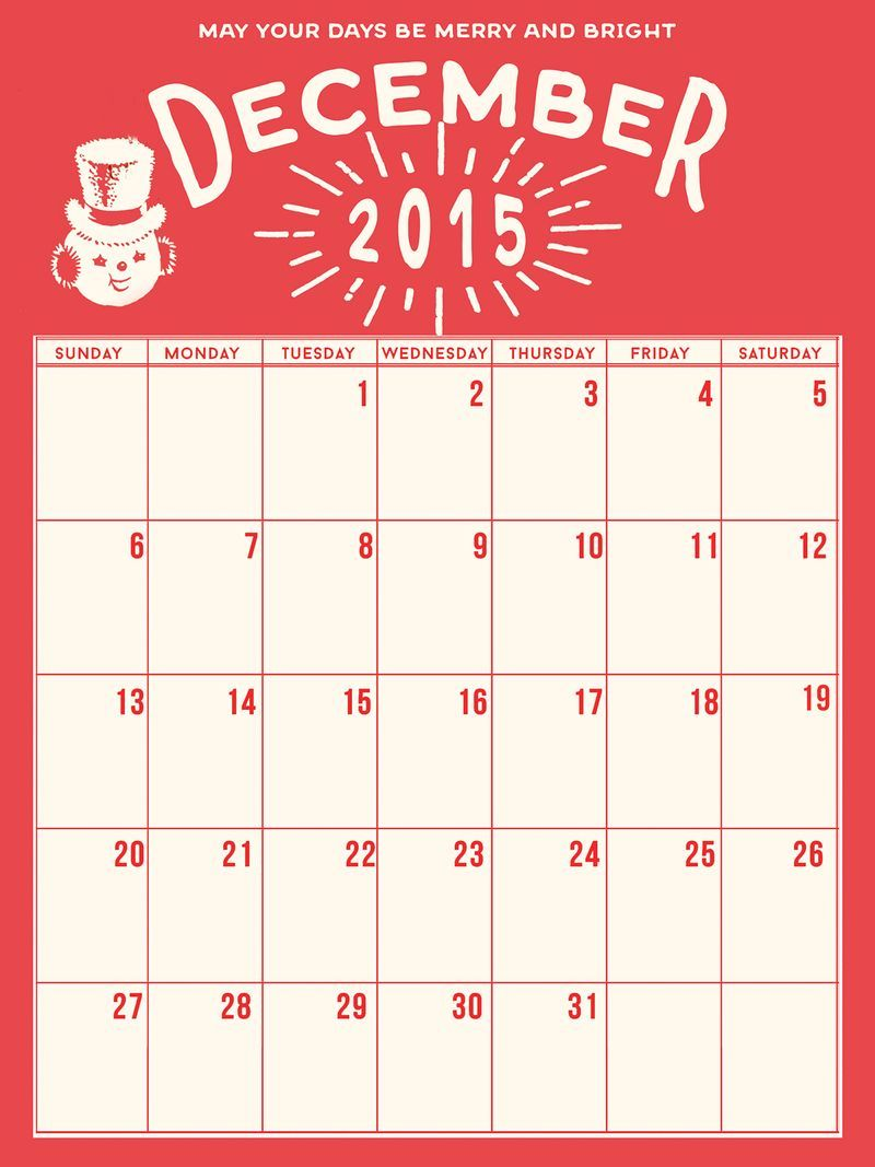 Holiday Calendar December Daily Freebie, Courtesy of Marie ...