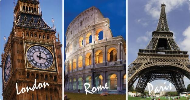 Image result for london paris rome