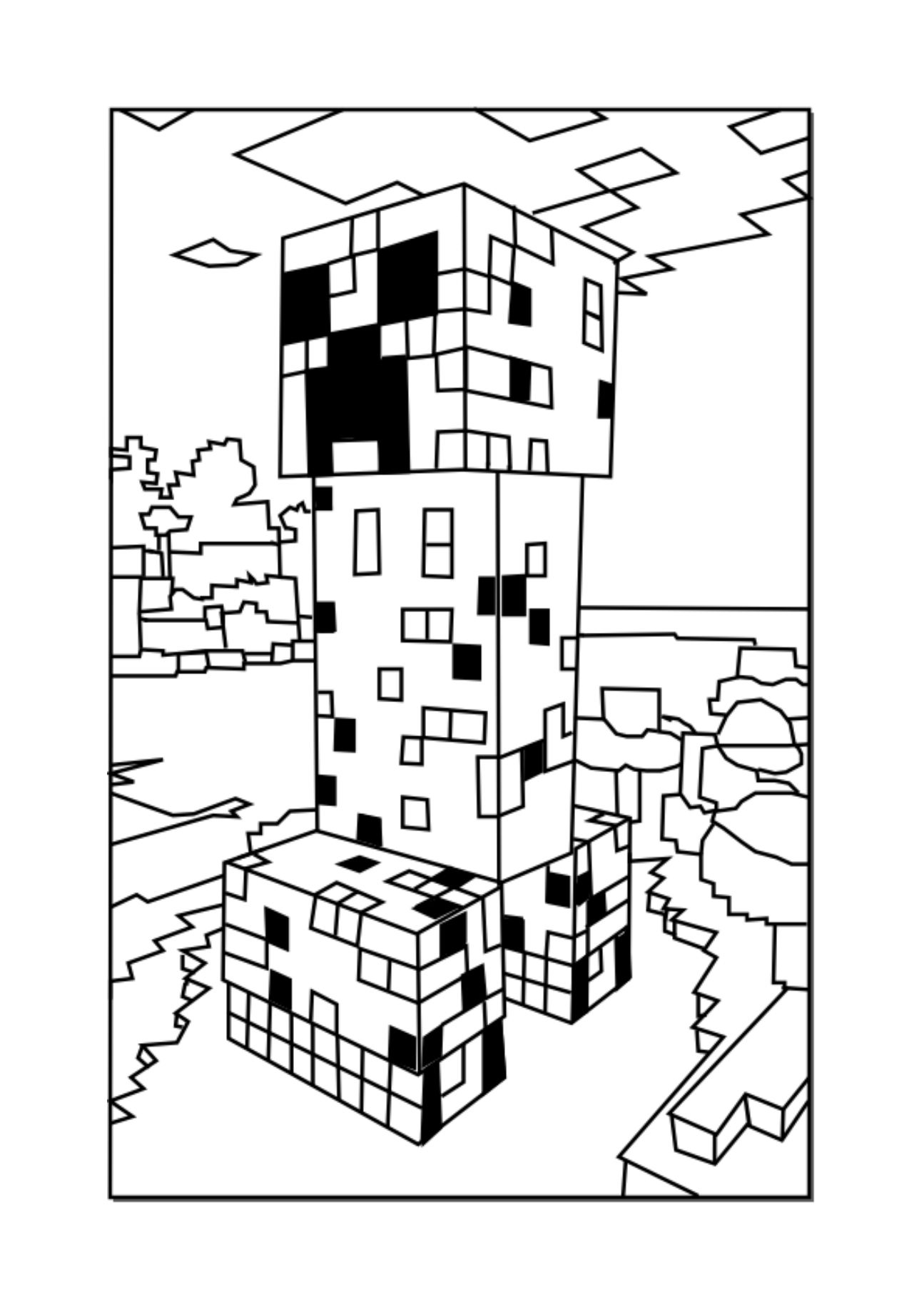 Minecraft coloring pages  Minecraft Creeper  Johnnys 7th party