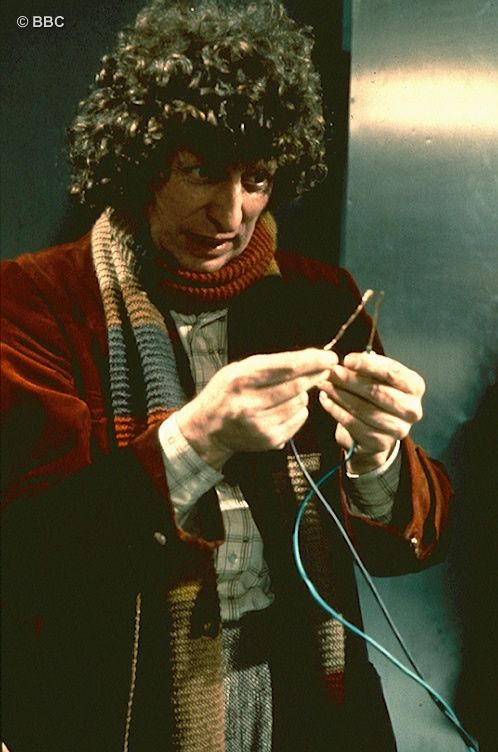 """""""Just touch these two wires together and the Daleks are finished. But have I done right?"""" One of the greatest moments in Doctor Who, and no special effects involved!"""