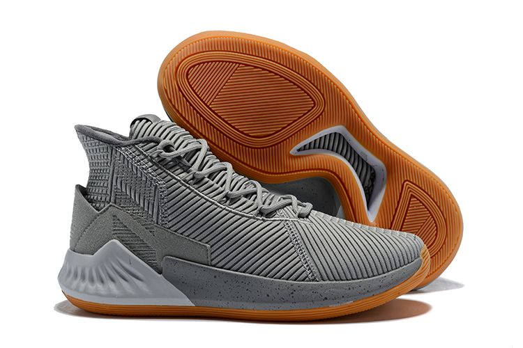 "the best attitude 53936 bc95b 2018 adidas D Rose 9 ""Grey Gum"" Basketball Shoes Free Shipping"