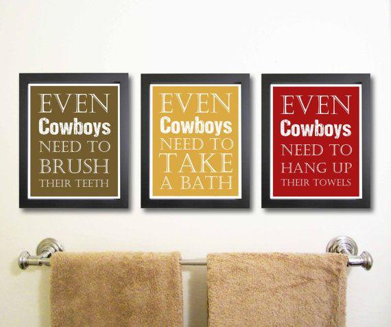 Nursery art print, Cowboy Art, Children Decor, Bathroom Art ...