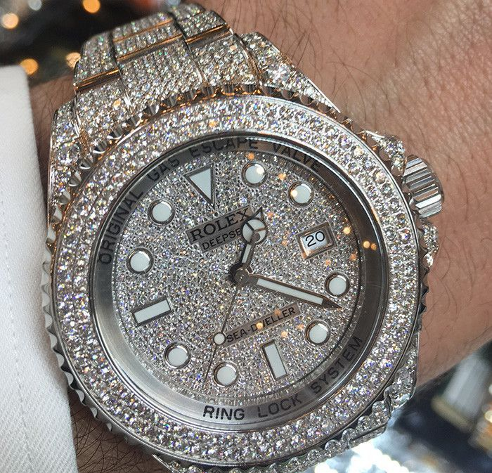 rolex deep sea steel iced out 22t pave face products