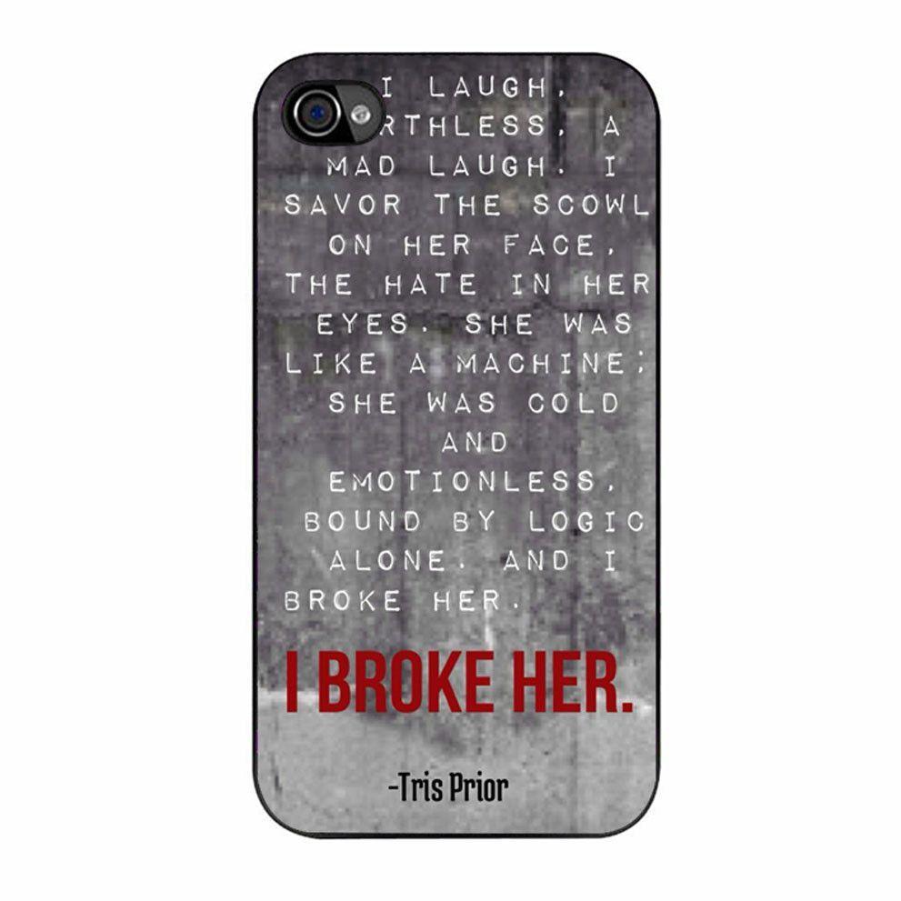 Divergent Dauntless The Brave quotes three iPhone 4/4s Case