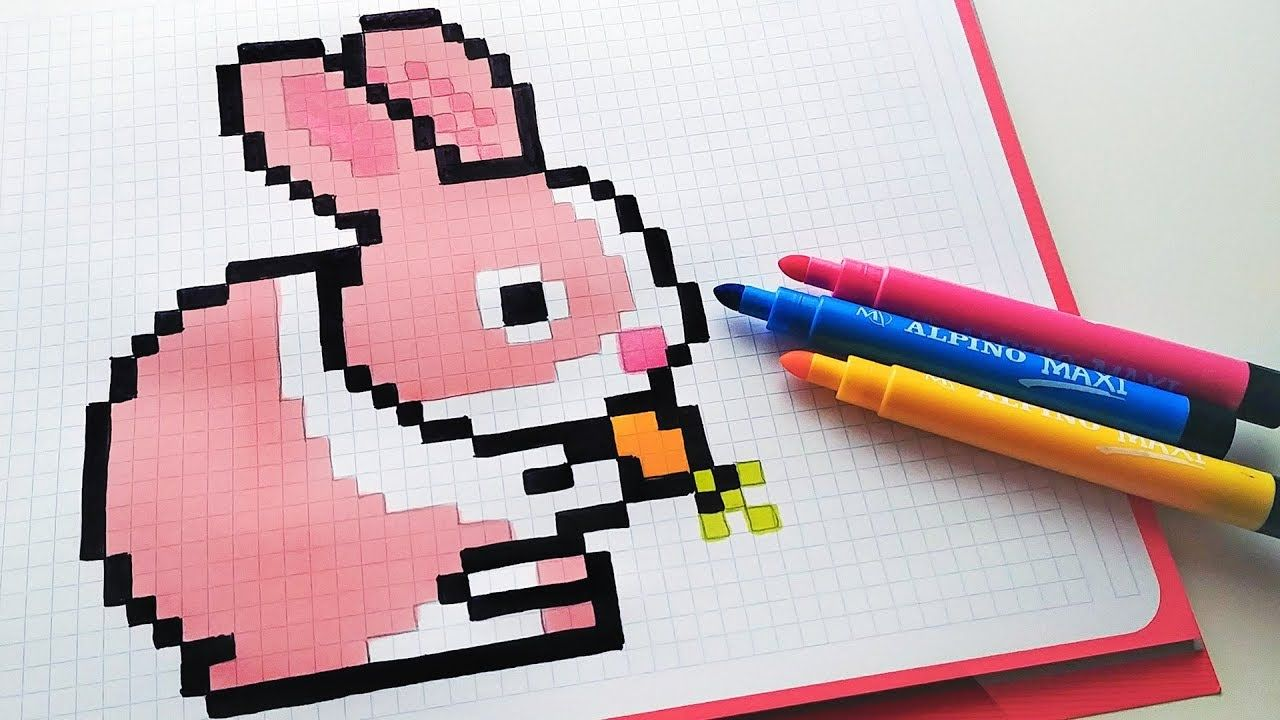 Handmade Pixel Art How To Draw A Bunny Pixelart Dessin