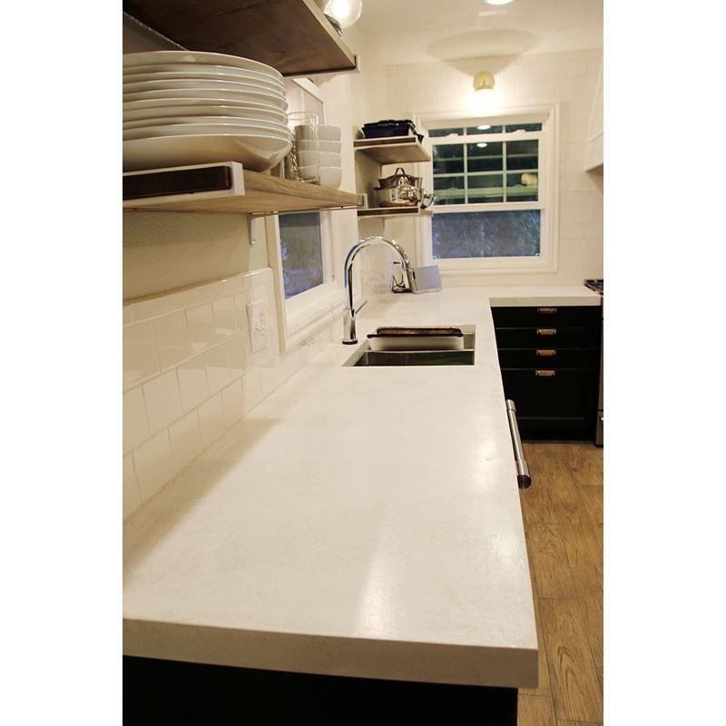 White Countertop Mix White Concrete Countertops Kitchen Remodel