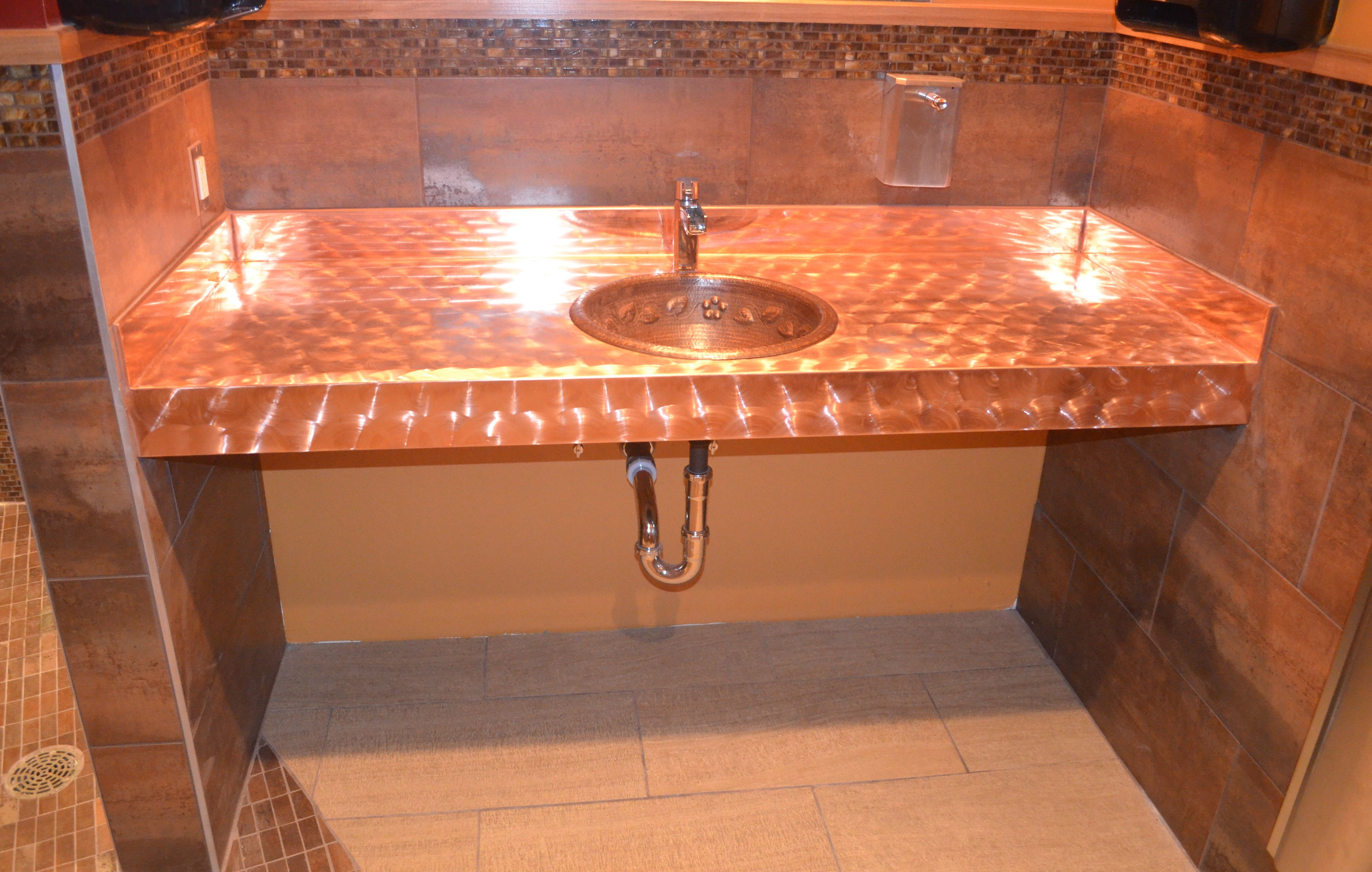 Western Countertops Copper Counter Top With Copper Sink Contractor Western