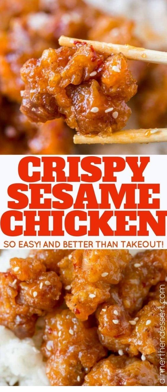 Chinese | Crispy Sesame Chicken is Tasty !!!  Just CLICK THE LINK  to SEE THE COMPLETE RECIPES  and step by step instruction