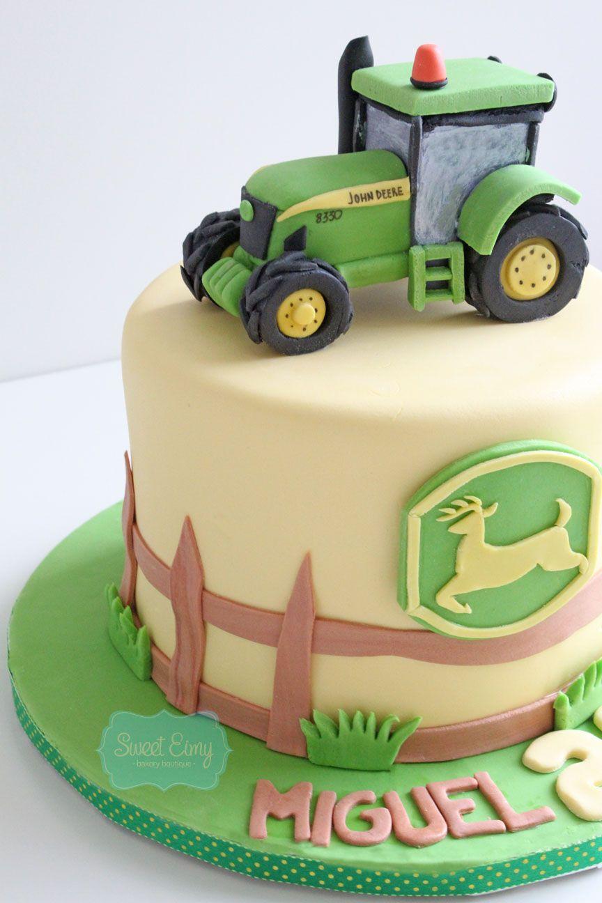 La tarta tractor de John Deere | farm birthday party in 2018 ...