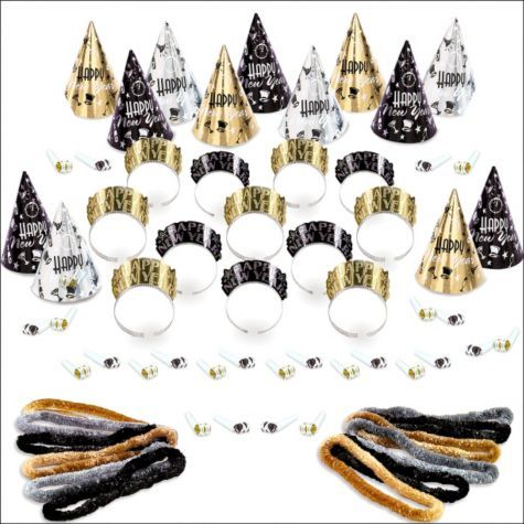 New Year\u0027s Party Kit For 25 - Elegant Eve - Party City New Year\u0027s