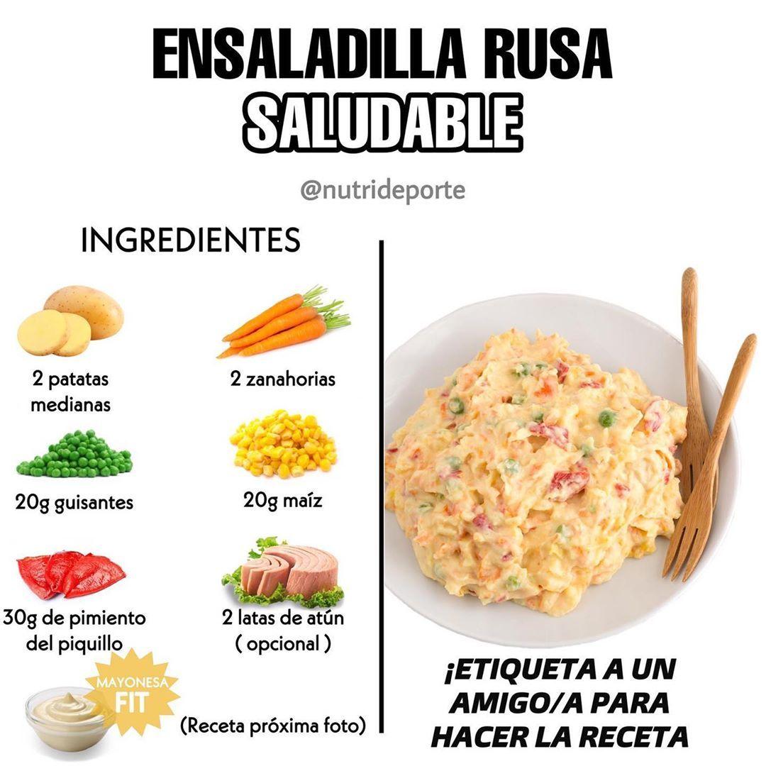 Nutrideporte S Instagram Post La Receta Completa La Podéis Encontrar En Nutrirecetasaludables Nutrirecetasaludables Ta Comida étnica Ensalada Rusa Recetas