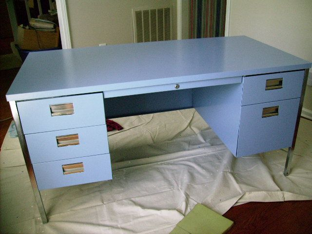old metal desk painted furniture metal desks desk painted rh pinterest com