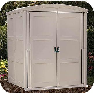 Suncast 6x6 Resin Plastic Storage Shed W/ Floor