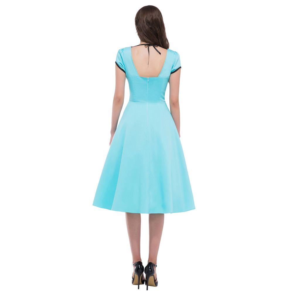 Grace Karin Short Sleeve Hollowed Back Retro Vintage Dress 50s 60s ...