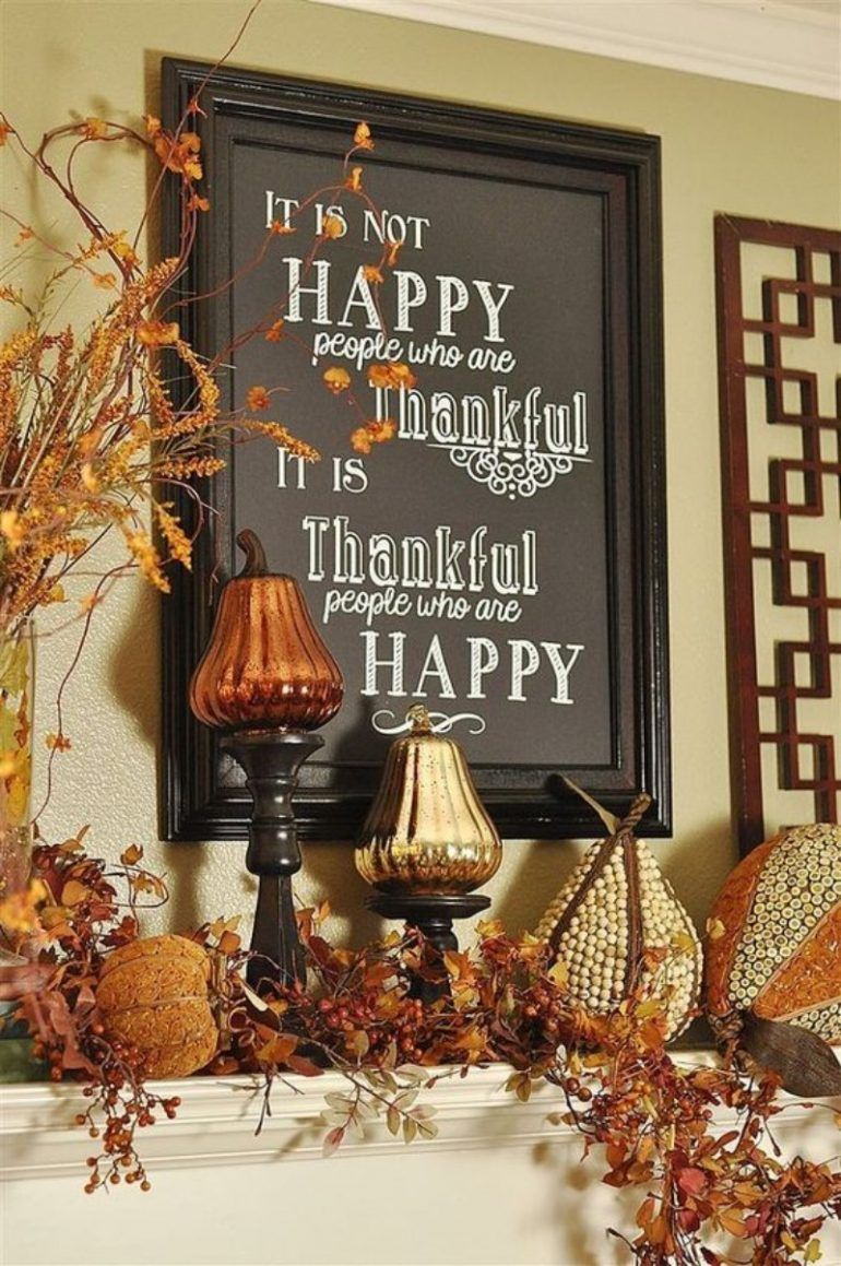 What is Hot on Pinterest Thanksgiving Décor! (With images