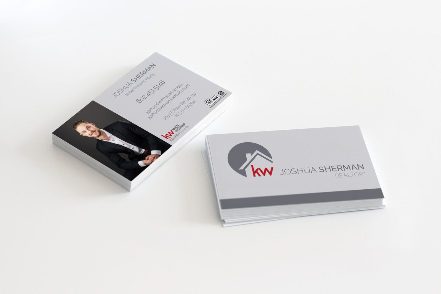 modern cool unique realtor real estate custom business cards