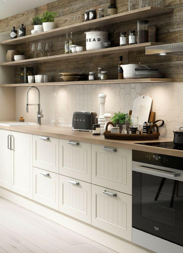 Skandinavische Landhauskuche Ideen Bilder Tipps Fur Die Planung Und Umsetzung Kuche Weiss Skandinavisch Landhaus Country Kitchen Home Kitchens Kitchen Design