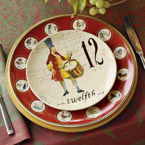 another idea for.....the 12 Days of Christmas plates & another idea for.....the 12 Days of Christmas plates | Christmas ...