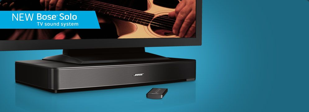 Love watching TV? Well, it's about to get dramatically better. The Bose Solo TV sound system reveals much more of the depth and detail you're meant to hear in your favorite programs.