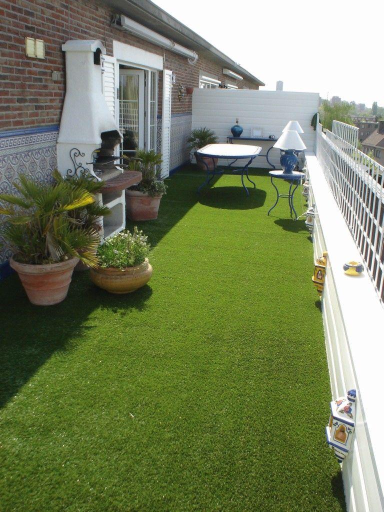 kunstrasen rasen deluxe auf einem großen süd-west-balkon | deko, Gartengerate ideen