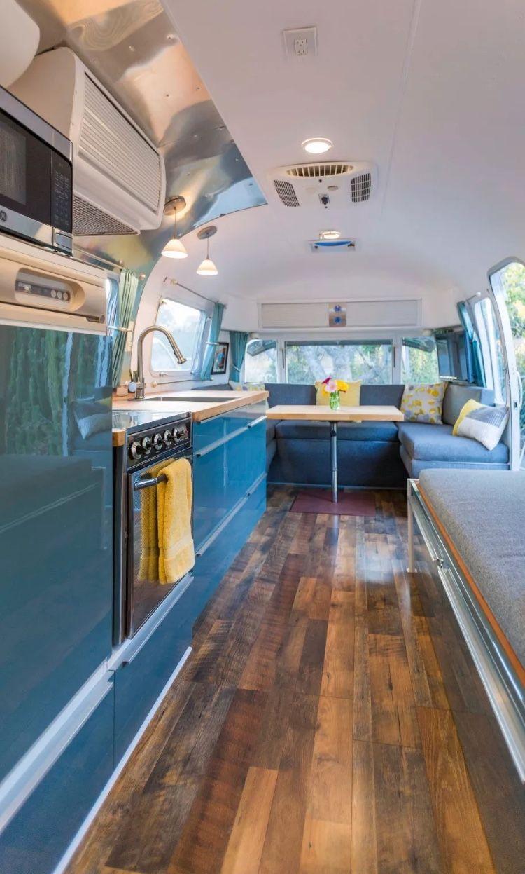 Vintage Airstream Kitchen Renovation - Love this design. | Airstream ...