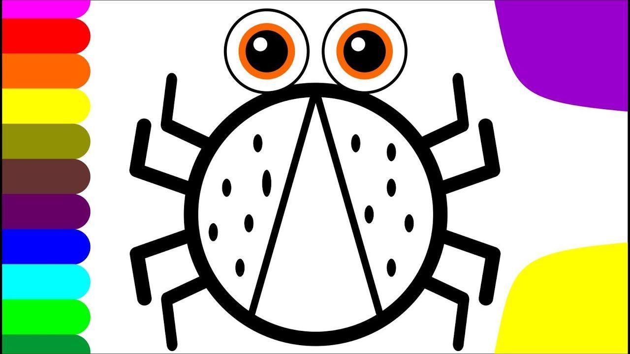 Menggambar Dan Mewarnai Kumbang Merah Untuk Anak Anak Dan Balita