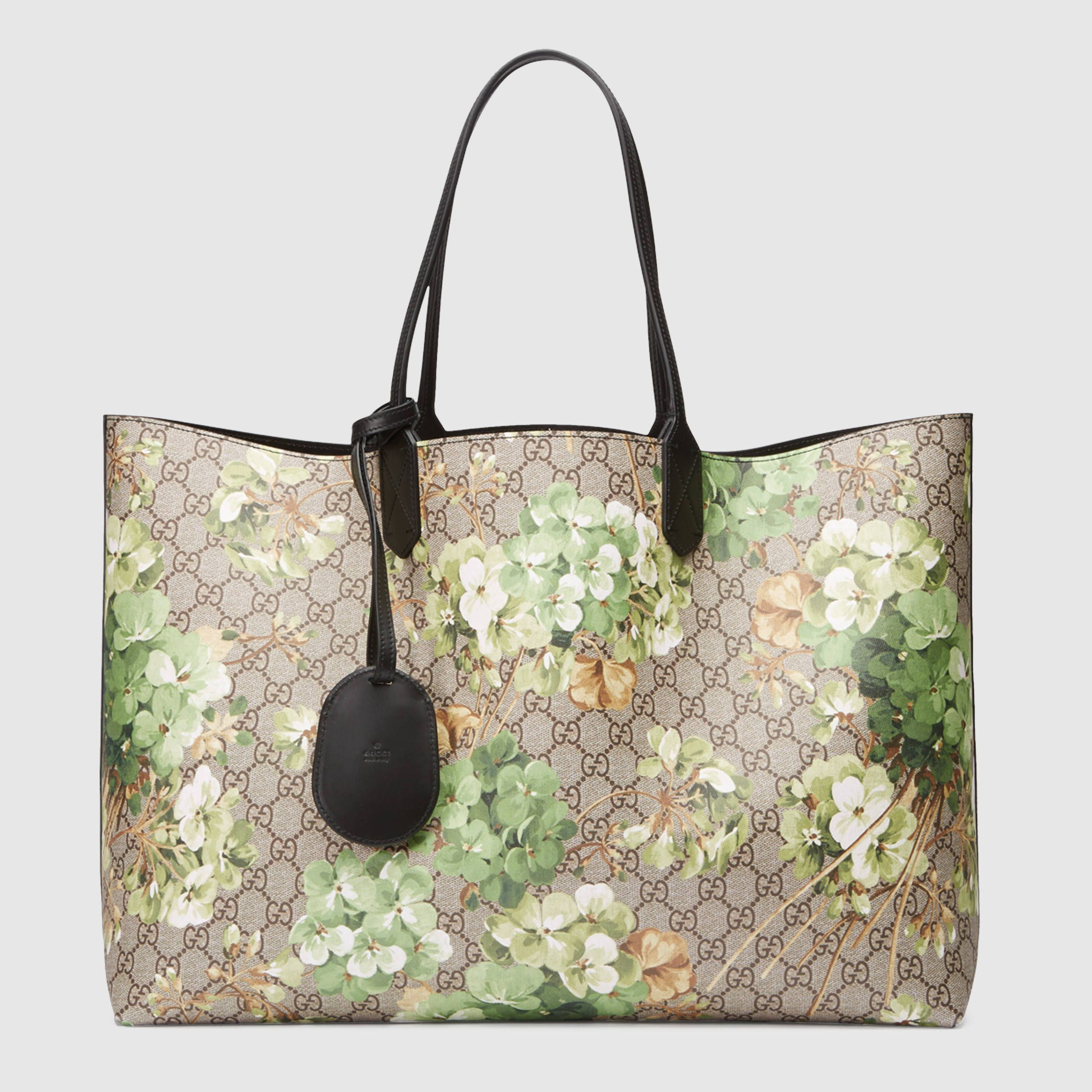 4f780de17db Gucci Women - Reversible GG Blooms leather tote - 368571CU71X8966 ...