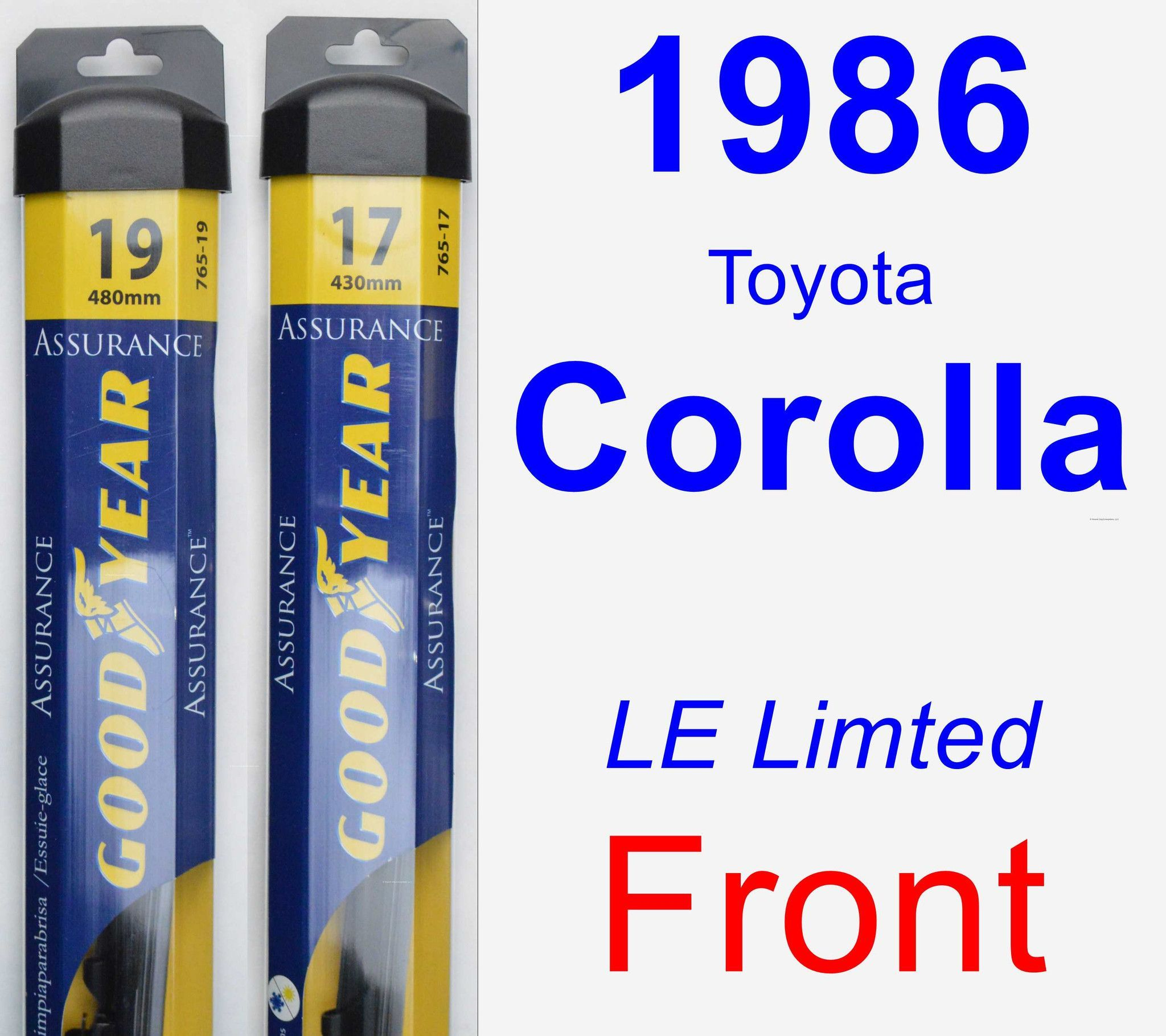 Front Wiper Blade Pack for 1986 Toyota Corolla - Assurance