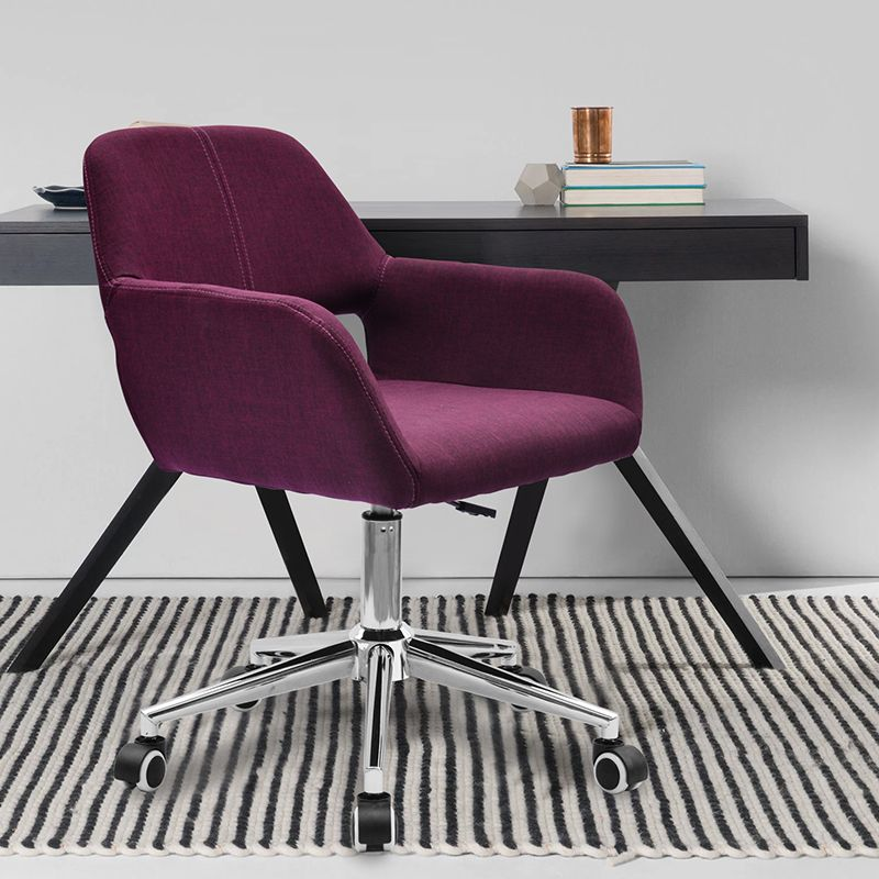 Boss Office Purple Chair Computer Game Stool Linen Seat Green Blue Red Grey Color Seletion Free Shipping Purple Chair Furniture Chair