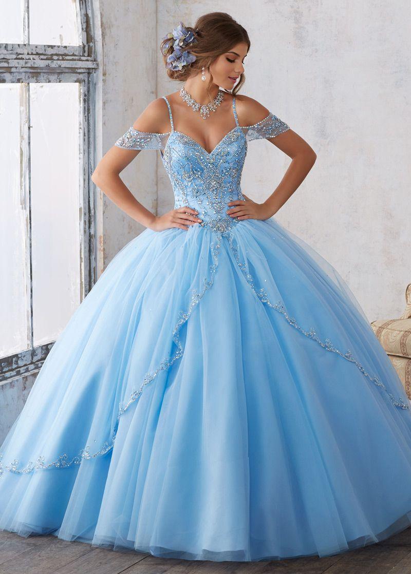 comprar Precioso tul fuera del hombro escote del vestido de bola ...