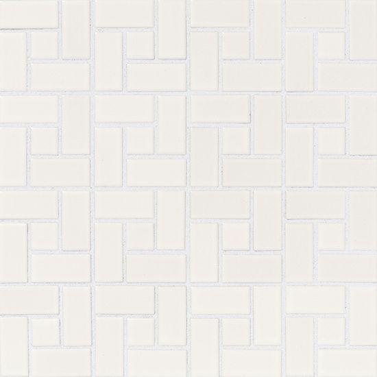 American Olean Chloe Satin White Pinwheel With Satin White