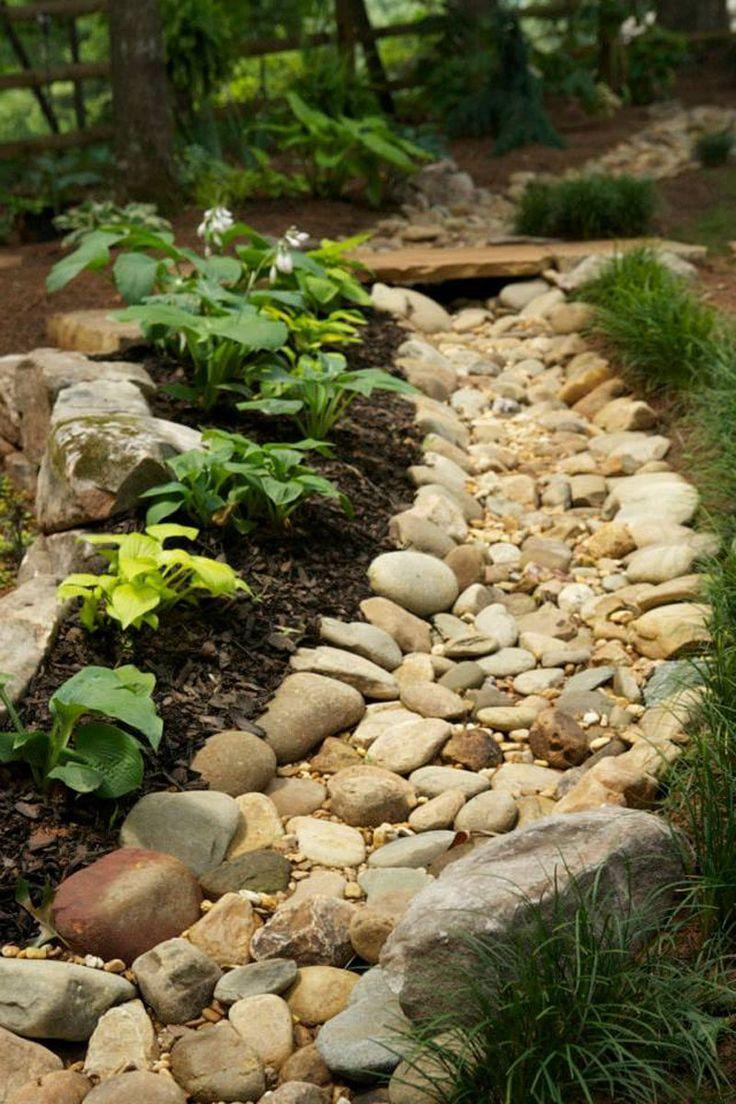 Designing A Shade Garden On A Slope With Creek At Bottom Google Search Shade Garden Design Rock Garden Landscaping Backyard Landscaping