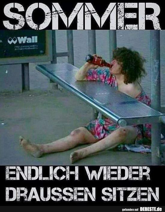 Photo of Sommer .. Endlich wieder draußen sitzen. | Lustige Bilder, Sprüche, Witze, echt …