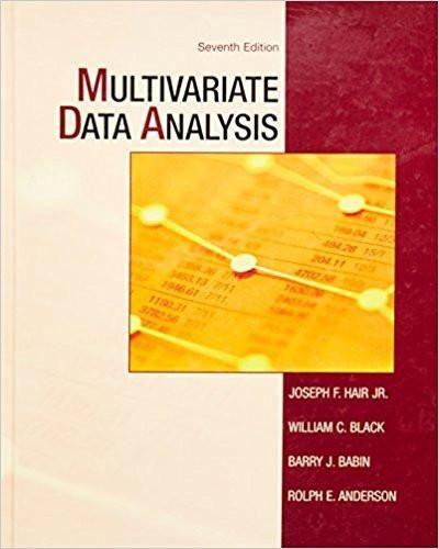 Multivariate Data Analysis 7th Edition By Joseph F Hair Jr Author Isbn 13 978 0138132637 Digital Book Data Analysis Electronic Books