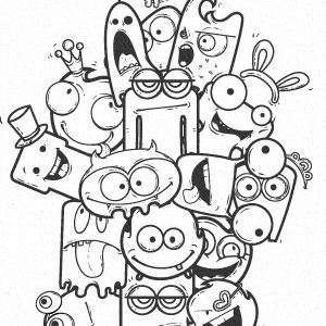 16 Free Vector cute monster to Download | Projects to Try | Doodle