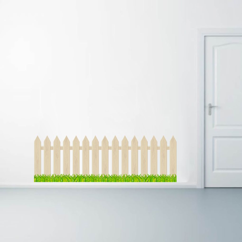 fence and grass printed wall decals wall stickers grasses wall fence and grass printed wall decals wall stickers