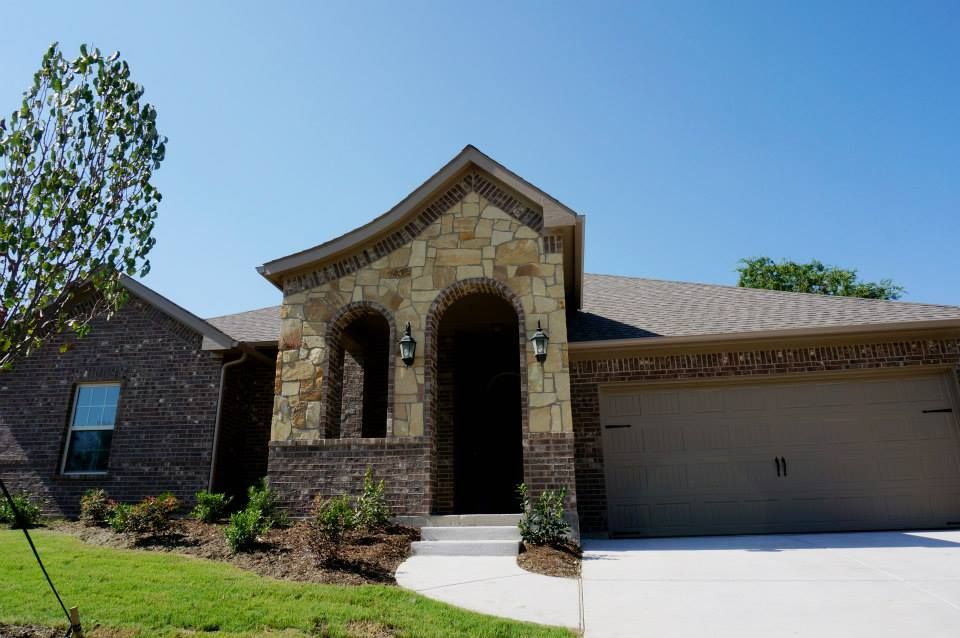 Front Elevation- Stone and Brick #mcbeehomes