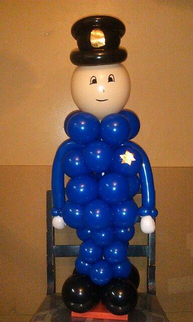 Chicago police boy birthday balloons decor pinterest for Balloon decoration chicago