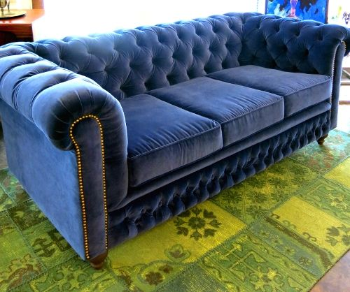Chesterfield Sofa, How To Reupholster A Chesterfield Sofa