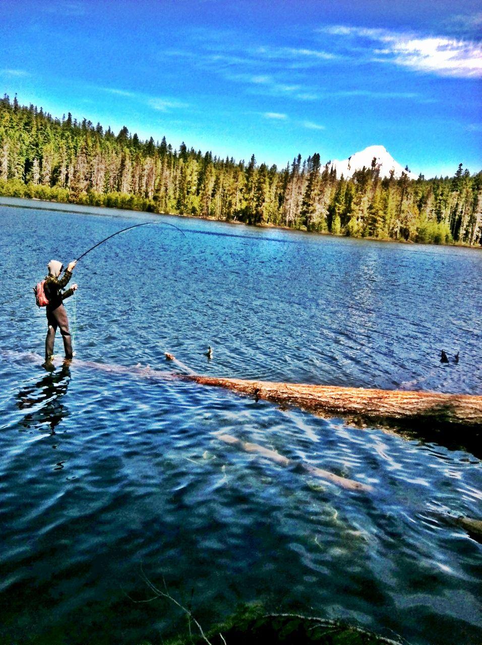 Fly Fishing At Frog Lake In Oregon Oregon Travel Fly Fishing Fish Camp