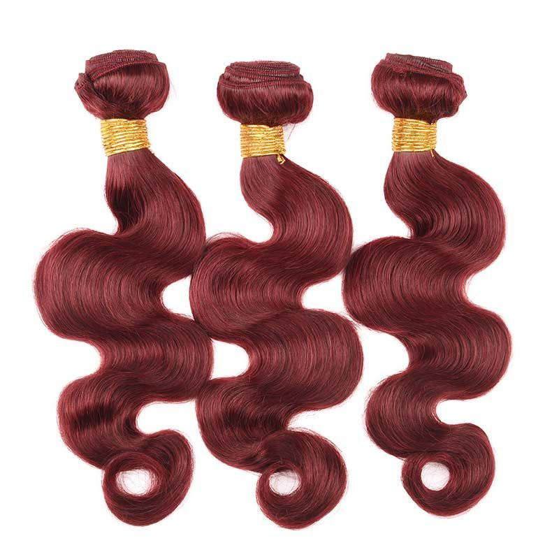 Marchqueen Brazilian Hair Weave Color 33 Rich Copper Red Hair Body