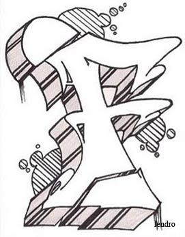 Graffiti Art Design Sketch Alphabet Graffiti Letter F 3d Letters