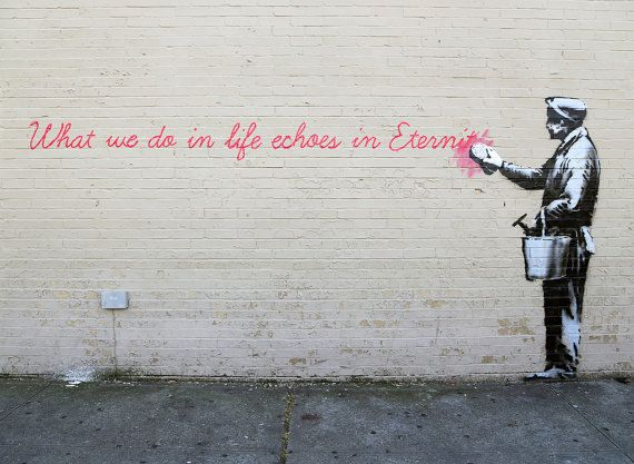 Banksy Art Print - Echoes in Eternity - Multiple Paper Sizes
