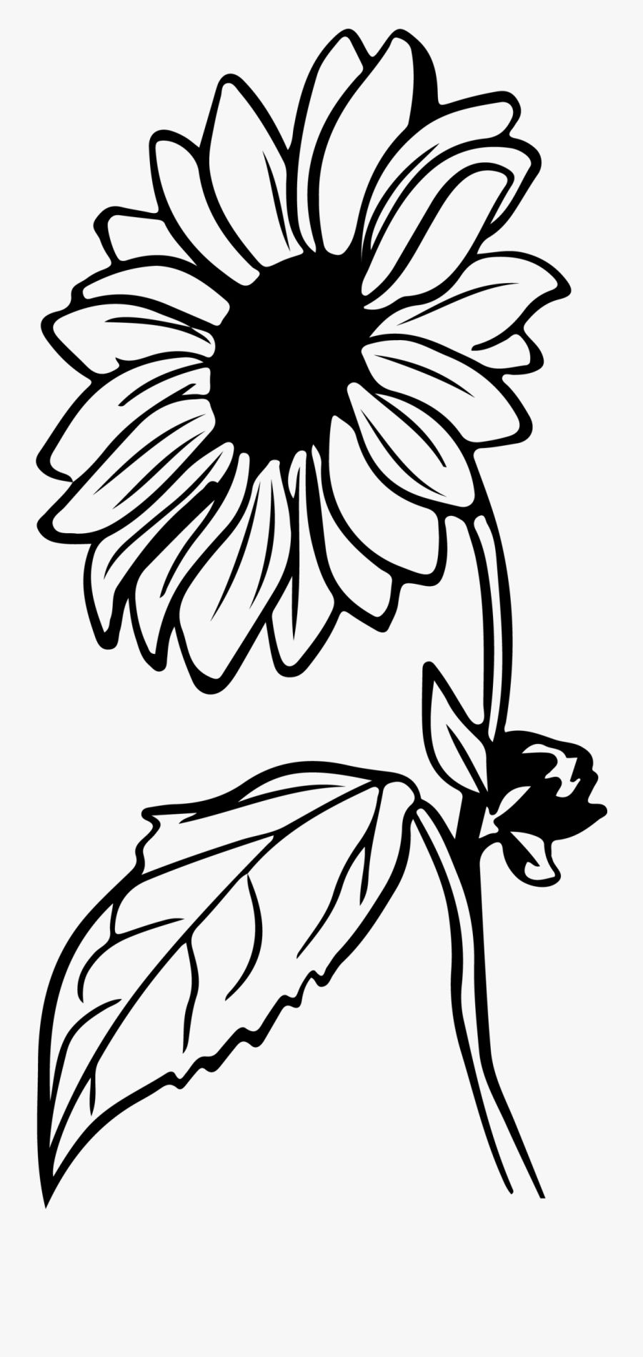 22++ Half sunflower clipart black and white ideas in 2021