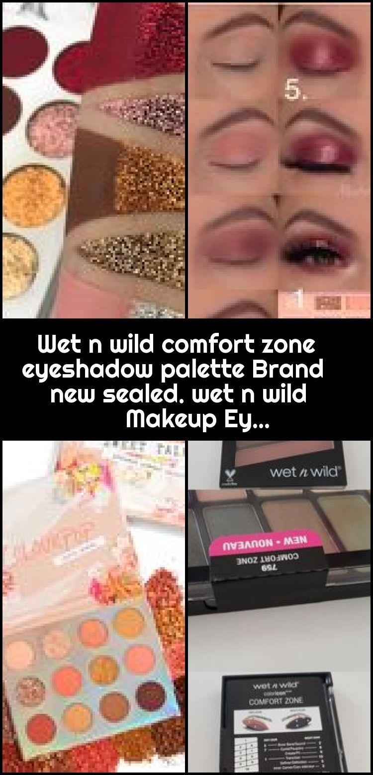 Brand Comfort Eyeshadow makeup palette sealed wet