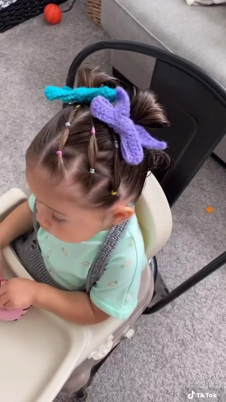 Colorful And Cute Hairstyle For Toddlers Video Toddler Hair Girl Hairstyles Cute Toddler Hairstyles