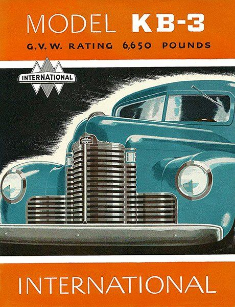 1947 International Kb 3 Truck Promotional Advertising Poster
