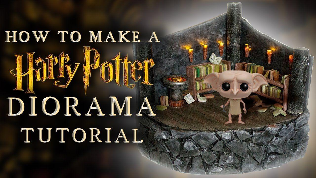 Harry Potter Diorama Diy Tutorial Diorama Basteln Papprollen